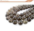 Natural gemstone 10mm smoky quartz semi precious stones buyers