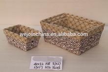 handmade wilow storage basket with lining