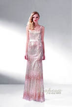 Sexy tight appliques sequin long evening dress 2015 formal evening prom dress bling bling cocktail dress