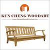 Classical elegant wood garden bench for overseas market/3 seater wooden garden bench