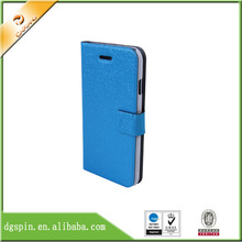 China Dongguan factory wholesale cell phone wallet leather case for iphone 5S