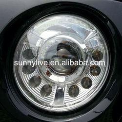 For Jeep Patriot 2011-2014 Head Light LED Angel Eyes Black Housing