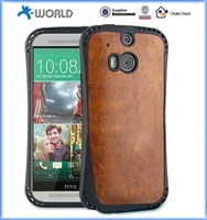 OEM leather pattern soft plastic best brand mobile phone covers for HTC M8