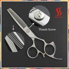 Hair thinning scissors razor blade