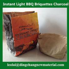 High Quality Pillow Shape Easy Light BBQ Charcoal