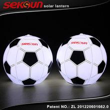 seksun original patent owned hand crank inflatable solar football light/LED solar lantern