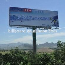Doppelseiten außenwerbung stahlkonstruktion billboard-bau
