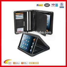 Customized leather portfolio for ipad 2/ipad 3/ ipad 4 , Leather portfolio manufacturers & suppliers & wholesales