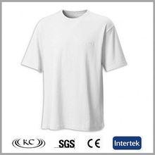 europe new 100% cotton plain men's white round neck t-shirt