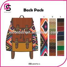 2014 moda venda quente mulheres tecido étnico para mochila