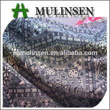 Mulinsen Textile Traditional Pattern Printed Poly Spun Punto Roma Jersey Fabric