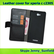 phone case leather cover for sony xperia c c2305 s39h