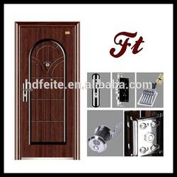 4728 new style best quality hinged mirror doors steel door metal security doors