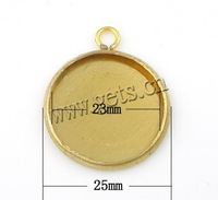 Gets.com brass round blank key ring