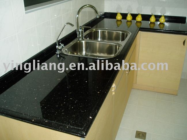 Perfect Black galaxy granite counters VK39
