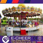 Exciting ! Park amusement game kiddie mini carousel