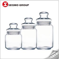clear airtight glass jar 98ml condiment sets glass cruets