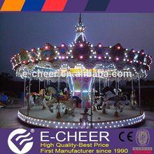Theme Park Recreational facilities rotating animal rides mini carousel for sale