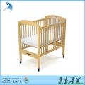 viveiro de móveis de madeira clara painel ajustável crib lado fixo equipamentos de montessori