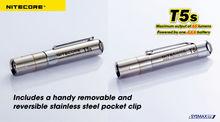 high quality original NitecoreT5S-R5 LED 50Lumens AAA rechargeable Flashlight Torch nitecore t5s maglite