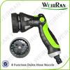 (84307) Garden dulex hose end sprayer, irrigation pistol sprayer 8 functions watering gun revolve
