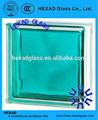 190*190*80mm tijolo de vidro colorido para a decoração
