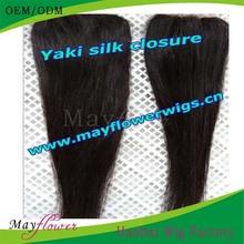 6a brazilian light yaki closure top grade human hair silk base closures