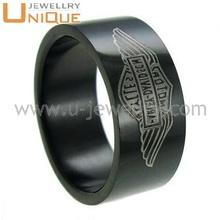 High quality black river steel rings(R3822)