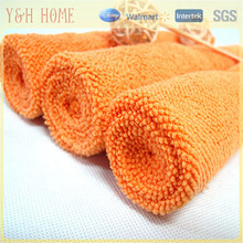 Orange microfiber hair towel