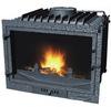 wood burning fireplace insert indoor
