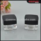 square shape acrylic cosmetics empty cream jar Jar ,acrylic cosmetic jar 3g