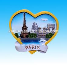Hotsale tourist souvenirs resin 3D fridge magnet --- Paris , France