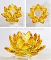 Flor de lótus de cristal presente de vidro decoração de casamento lembranças