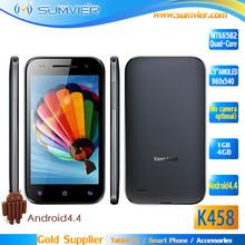 Bulk Wholesale 4.3nch AMOLED Screen MTK6582 Quad Core RAM 1G ROM 4G No Camera Phone