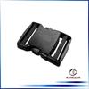 Adjustable bag plastic side release buckle