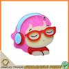 listening music girl acrylic import cartoon mirror mobile phone case jz039