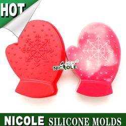 B0151 Nicole Christmas handmade cake decoration silicone cake molds factory