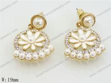 tasteful dark purple pearl real diamond earring stud