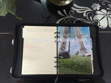 High Quality Genuine Leather Hard Cover Organizer Agenda Notebook