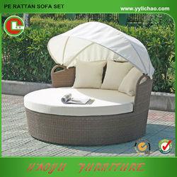 Cheapest aluminium folding outdoor beach beds with canopy