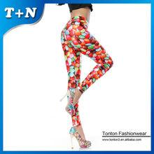wholesale women sex korea colorfull pills leggings tights spandex jeans