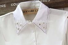 DIY beads flower shirt false collar necklace women girl fake collar fashion costume accessory FC160