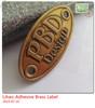 old brass label,antique brass logos, brass metal nameplate