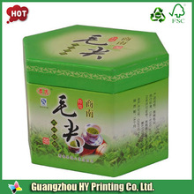Green art paper round paper tea boxes