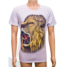 BY-T028 Fashional Lion Roar Pattern Latest 3D T shirts