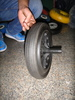 12 inch solid rubber powder wheel/dustbin wheel 12x2