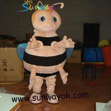 Bee costume/Wearing fur costume/Acting costume/Cartoon Performing costume.