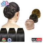 New arrival wholesale factory price black synthetic hair bun