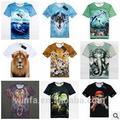 2014 europeu nova& americano excelente moda criativa 3dimpressão de homens e mulheres t- shirt
