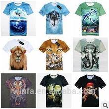 2014 nova europeu e americano moda excelente criativo homens de impressão 3D e feminino T - camisa